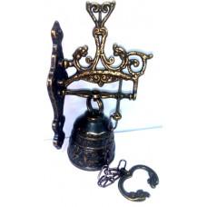 Колокол декоративный малый бронза