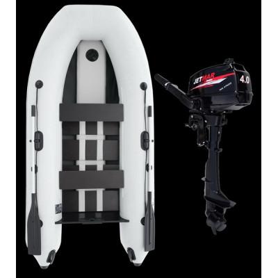 Комплект лодка Jetmar 3м белая + мотор T4