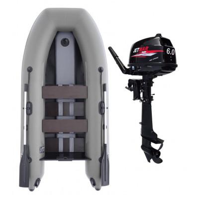 Комплект лодка Jetmar 3м серая + мотор T6