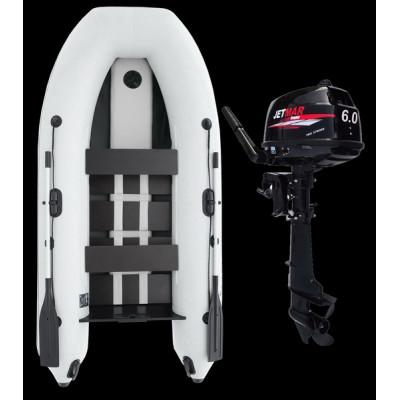 Комплект лодка Jetmar 3м белая + мотор T6