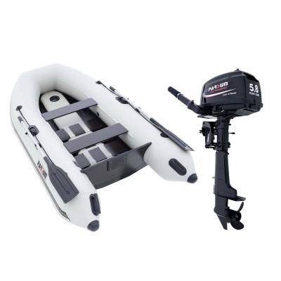 Комплект лодка Parsun 3м широкий привальник + мотор T5.8